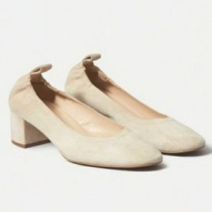 EVERLANE The Day Heel Cream Suede Size 6